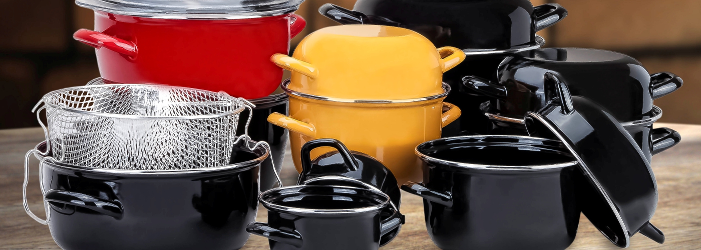 HEALTY PRODUCTS : ENAMEL COOKWARES